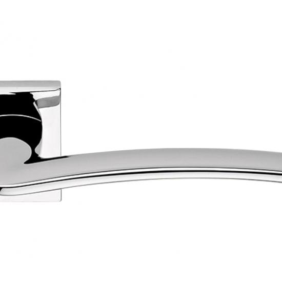 Ala Cromo Lucido Maniglia Per Porta Su Rosetta Di Design Moderno Made