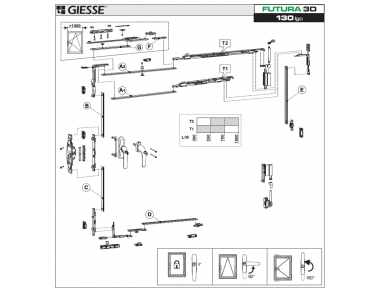 Anta Ribalta Futura 3D per Cremonese Logica Configurazione Base Giesse