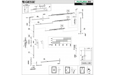 Anta Ribalta Futura 3D per Martellina Configurazione Base Giesse