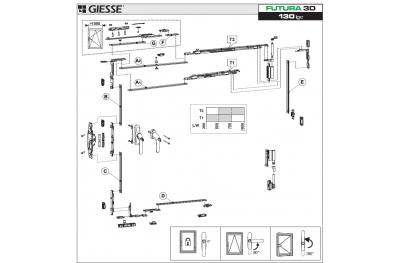 Anta Ribalta Futura 3D per Martellina Logica Configurazione Base Giesse