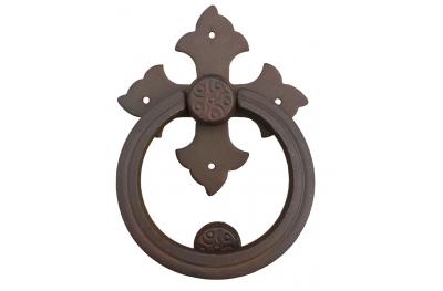 Battente Croce con Anello Galbusera in Ferro Battuto