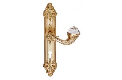 Brillant Crystal 1526 Maniglia per Porta su Placca Linea Calì Vintage