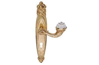 Brillant Crystal 1531 Maniglia per Porta su Placca Linea Calì Vintage