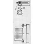 Cerniera Fulcro Cardine con Cuscinetto Savio Regolabile per Cancelli