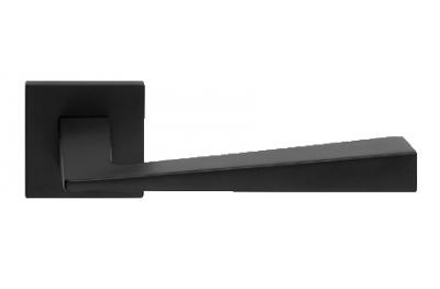 Conica Zincral Basic Linea Calì Nero Opaco Coppia di Maniglie su Rosetta