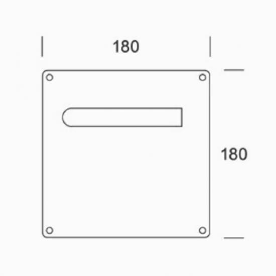 Coppia Di Maniglie Su Placca Pba 2mm01500a1 In Acciaio Inox Aisi 316l