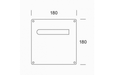 Coppia di Maniglie su Placca pba 2MM.015.00A1 in Acciaio Inox AISI 316L