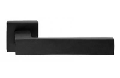 Corner Zincral Basic Linea Calì Nero Opaco Coppia di Maniglie su Rosetta