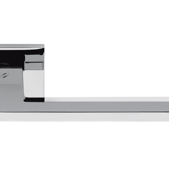 Electra Cromo Lucido Maniglia Per Porta Su Rosetta Di Forma Piatta By