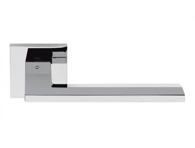 Electra Cromo Lucido Maniglia per Porta su Rosetta di Forma Piatta by Colombo Design