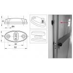 Fermaporte Magnetico per Porte in Ferro Legno o Alluminio IBFM