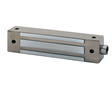I400SR 400Kg Fermo Elettromagnetico da Applicare in Acciaio Inox 12/24V DC + Reed di Stato CDVI