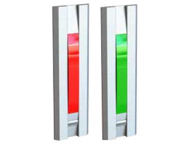 Indicatore Luminoso con Pulsante Rosso Verde per Porte 55031 Serie Profilo Opera
