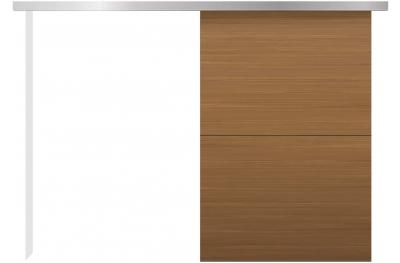 Kit Porta Scorrevole Esterno Muro Minimal Silent Design Essenziale