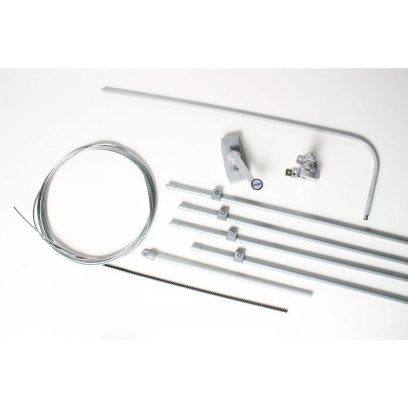 Kit Completo per Vasistas Singolo Ultraflex UCS Meccanismo di Apertura Manuale per Finestra