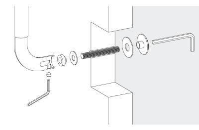 Kit Fissaggio Passante Singolo Maniglione Colombo per Porte Tutti Materiali
