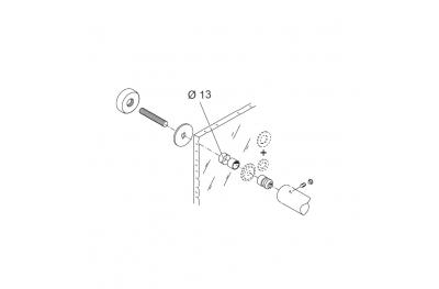 Kit Fissaggio pba 02 per Maniglione Singolo Passante per Porte in Vetro