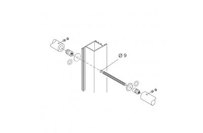 Kit Fissaggio pba 710 Coppia di Maniglioni per Porte in Alluminio Ferro Legno