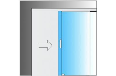 Kit per Porte Scorrevoli in Vetro MiniSlide SbyC