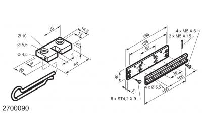 Kit Universale per Applicazioni su Finestre a Sporgere WAY Mingardi Micro L e XL