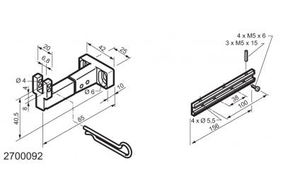 Kit Universale per Applicazioni su Finestre a Vasistas WAY Mingardi Micro L