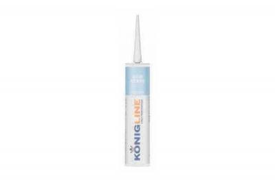 Konigline Eco Acryl Silicone Acrilico Bianco per Porte e Finestre
