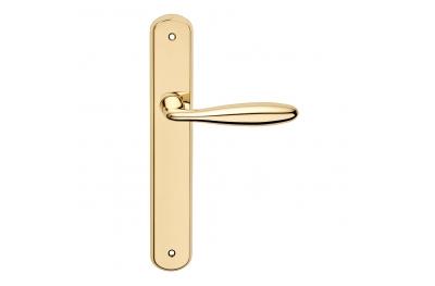 Luxor Serie Basic forme Maniglia per Porta su Placca Frosio Bortolo Forma Curvilinea