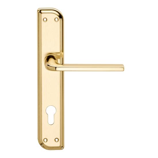 Milly Serie Basic Forme Maniglia Per Porta Su Placca Irregolare Frosio