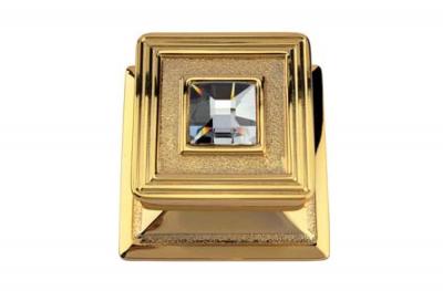 Opera Crystal 1056 PT Pomolo per Porta Oro Zecchino Linea Calì con Cristalli Swarovski di Gioielleria