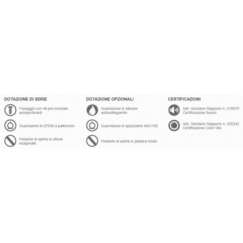 Paraspiffero per Porta 1700 Comaglio Serie Pressure Varie Misure