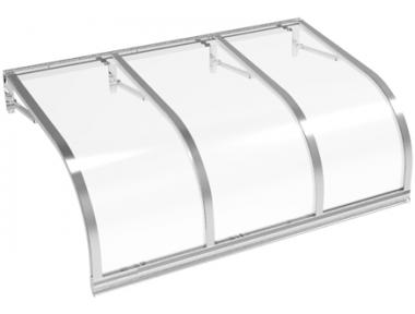 Pensilina Cassiopea Alluminio Trasparente in Alluminio AMA Protezioni Solari
