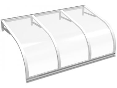 Pensilina Cassiopea Bianco Trasparente in Alluminio AMA Protezioni Solari