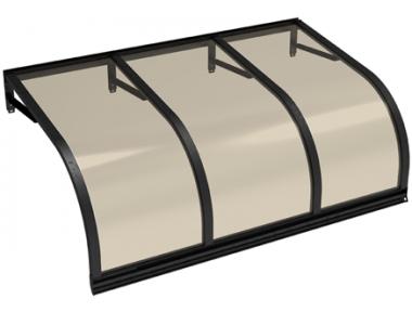 Pensilina Cassiopea Nero Bronzo in Alluminio AMA Protezioni Solari