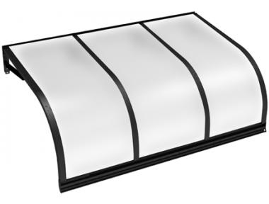 Pensilina Cassiopea Nero Opalino in Alluminio AMA Protezioni Solari