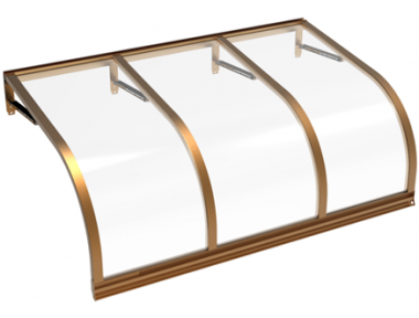 Pensilina Cassiopea Rame Trasparente in Alluminio AMA Protezioni Solari