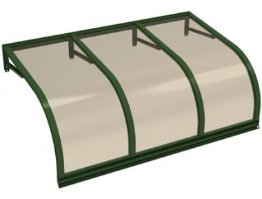 Pensilina Cassiopea Verde Bronzo in Alluminio AMA Protezioni Solari