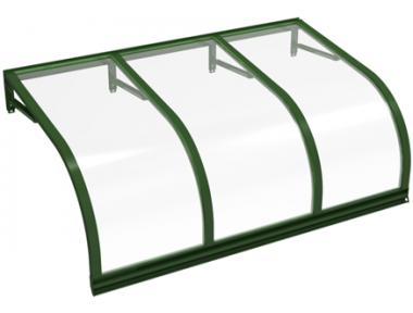 Pensilina Cassiopea Verde Trasparente in Alluminio AMA Protezioni Solari