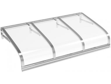 Pensilina Euriga Alluminio Trasparente in Alluminio AMA Protezioni Solari