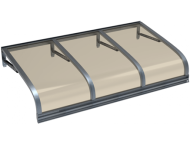 Pensilina Euriga Grigio Bronzo in Alluminio AMA Protezioni Solari