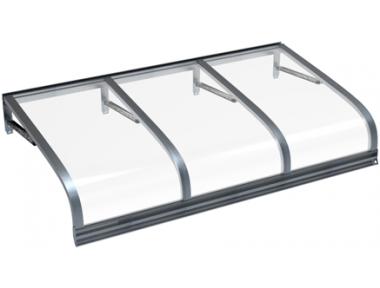 Pensilina Euriga Grigio Trasparente in Alluminio AMA Protezioni Solari