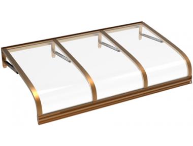 Pensilina Euriga Rame Trasparente in Alluminio AMA Protezioni Solari