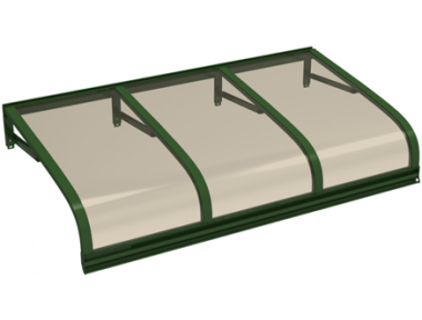 Pensilina Euriga Verde Bronzo in Alluminio AMA Protezioni Solari
