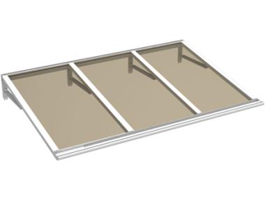 Pensilina Lira Bianco Bronzo in Alluminio AMA Protezioni Solari