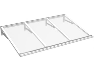 Pensilina Lira Bianco Trasparente in Alluminio AMA Protezioni Solari