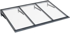 Pensilina Lira Grigio Trasparente in Alluminio AMA Protezioni Solari