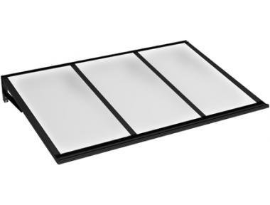 Pensilina Lira Nero Opalino in Alluminio AMA Protezioni Solari