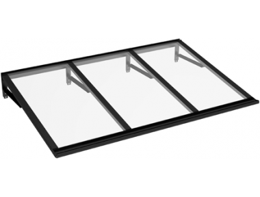 Pensilina Lira Nero Trasparente in Alluminio AMA Protezioni Solari
