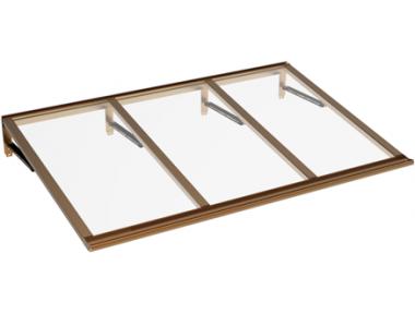 Pensilina Lira Rame Trasparente in Alluminio AMA Protezioni Solari