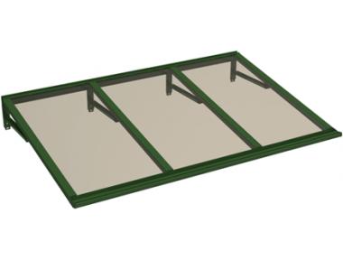 Pensilina Lira Verde Bronzo in Alluminio AMA Protezioni Solari