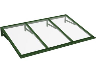 Pensilina Lira Verde Trasparente in Alluminio AMA Protezioni Solari